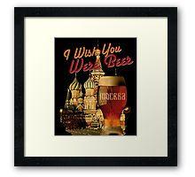I Wish You Were Beer – Moscow (retro) (Храм Василия Блаженного, Москва) – Framed print designed by Andras Balogh