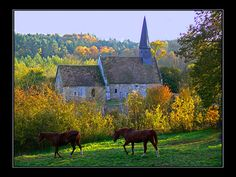 A small church in Haute-Normandie France