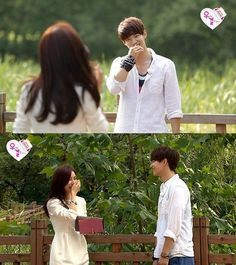 """Song Jaerim and Kim Soeun use skinship to find each other on MBC """"We Got Married"""""""