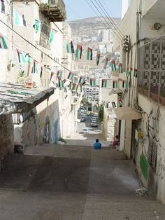 The streets of Nablus, occupied Palestine