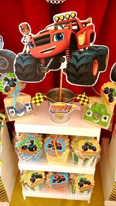Blaze and the Monsters machines Birthday Party Ideas | Photo 1 of 12 | Catch My Party