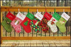 Sewing Tutorial - Christmas Stocking Patterns - Elf and Traditional(Etsy のtiedyedivaより) https://www.etsy.com/jp/listing/84104433/sewing-tutorial-christmas-stocking