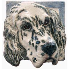 English Setter Ceramic Portrait Sculpture 3D Dog Art by alexart64, $74.99