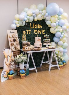 Liam's First Birthday Party! Winnie The Pooh Theme — H A N A N - Football birthday party - Boys First Birthday Party Ideas, Lumberjack Birthday Party, Birthday Themes For Boys, Baby Boy First Birthday, Boy Birthday Parties, Birthday Banners, Farm Birthday, Birthday Photos, Boys 1st Birthdays