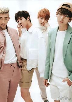 Rapmon, Jhope, Suga and V ♡