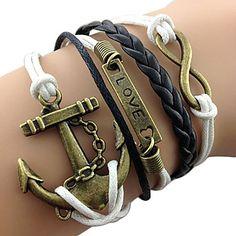 8-Word+LOVE+Anchor+Leather+Bracelet+–+USD+$+5.99