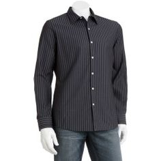 Marc Anthony Slim-Fit Wide-Striped Casual Button-Down Shirt - Men - product - Product Review