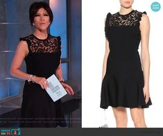 Julie Chen Fashion on Big Brother Cutout Dress, Lace Dress, Big Brother Style, Julie Chen, Scalloped Dress, Asymmetrical Tops, Lace Inset, Fashion Outfits, Clothes