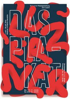 Das Luzerner Plakat. Ausstellung über Luzerner Plakatgestaltung, Berlin 2014 Gestaltung: Josh Schaub Format: 90.5 x 128 cm Druck: Siebdruck (2farbig: Leuchtrot, Dunkelblau)