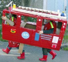 Juguetes reciclados: camión de bomberos y carrillón
