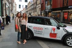 The ultra chic ladies behind Perfect10 nails! Claire and Charlie! #essiepros
