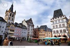 Market square in Trier, Germany