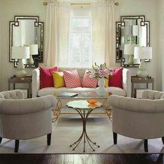 white elegant seating area