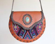 Leather bag Crossbody bag Shoulder bag Fringe bag от TikalTextiles