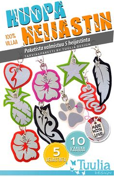 Huopaheijastin 5 kpl, tarvikepaketti | Tuulia design. Iloa & Ideaa askarteluun ja käsitöihin! Ephemera, Art For Kids, Diy And Crafts, Projects To Try, Kids Rugs, Sewing, Fabric, Gifts, Handmade