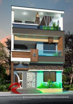 Rc Visualization is a growing Plan & Elevation Designing company. We are expert in architectural Planning, Elevation Designs, interior designs and realistic renderings. Flat House Design, 3 Storey House Design, Narrow House Designs, Bamboo House Design, Duplex House Plans, Bungalow House Design, Unique House Design, House Front Design, Front Gate Design