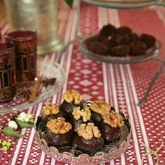 Choklad med jack daniels whisky och valnötter