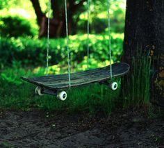 Upcycled Skateboard Swing  LLKoOLReL + 3631