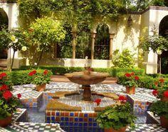 italian backyard garden fountain - Google Search