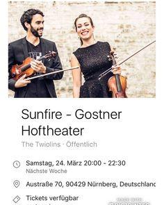 Wir kommen nach Nürnberg kommt ihr auch? :-) #nürnberg #nürnbergcity #nürnberger #kulturnürnberg #nürnbergerland #nürnbergkultur #eventsnürnberg #konzertinnürnberg #igersnürnberg #nuernberg #nurnberg #nuernberg_de #nuernberg_travel #nuernbergcity #nürnbergliebe #gostnerhoftheater