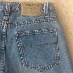 Vintage Jordache High Waisted Flare Jeans Adorable vintage Jordashe 100% Cotton Flare High Waisted Jeans. Size 3/4, 29 inseam. (#1) Jordashe Jeans Flare & Wide Leg