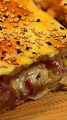 Cómo hacer strudel de cebolla Strudel, Tacos Y Mas, Cocina Natural, Tasty, Yummy Food, Empanadas, Chinese Food, Cooking Time, I Foods