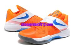 Nike Zoom KD 4(IV) Shoes Orange White Kevin Durant Shoes 2013   4a9cac02eb54