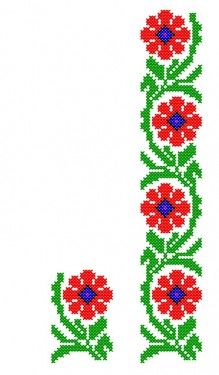 Poze FL049 Cross Stitch Cushion, Cross Stitch Rose, Cross Stitch Borders, Cross Stitch Flowers, Cross Stitch Designs, Cross Stitching, Cross Stitch Patterns, Hand Embroidery Art, Embroidery Patterns Free