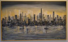 TH2018 Cityscape Acrylic New York Skyline, Painting, Travel, Art, Craft Art, Paintings, Viajes, Kunst, Traveling