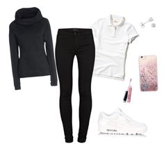 """""""💧"""" by dreairrational on Polyvore featuring Hollister Co., NIKE, J Brand, Amanda Rose Collection and Avon"""