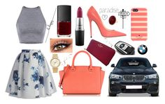 """"" by giuliacarolline ❤ liked on Polyvore featuring BMW, Chicwish, Jimmy Choo, Michael Kors, Kate Spade, MAC Cosmetics and NARS Cosmetics"