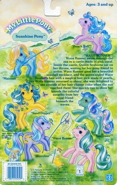 Every Pony had its own back story on how it got its name. If you tried telling me that Moon Dancers name was Princess Star Shine or some BS like that you could not be my friend. The back story gave you the name and how they got it.