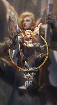 Wallpaper Phone Hilda Sacred Guard By Fachrifhr Mobile Legend Wallpaper Mobile Legends Bruno Mobile Legends