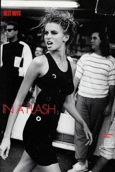 UK Elle March 1990 The New Flash Ph: Pamela Hanson Model: Niki Taylor