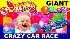 Giant Orbeez Hot Wheels Race, Hot Wheels video, Giant Orbeez Crush, Gian...