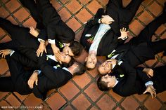 An aerial shot is sweet. | 18 Glorious Ideas For Groomsmen Photos