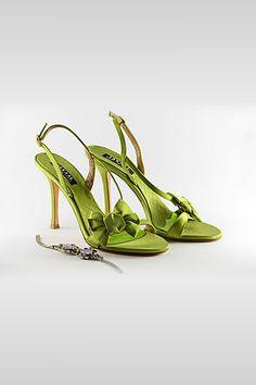 colorful green heels