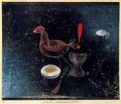 Paul Klee, Contemplation at Breakfast,1925 on ArtStack #paul-klee #art