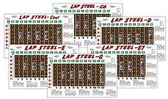 6-Lap-Steel-Fretboard-Chart-Poster-C6-C-m7-D-E-E7-G-Fingerboard Lap Steel Guitar, Chart, Poster, Ebay, Billboard