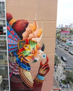 curiot - mural project Lienzo Capital in Mexico City