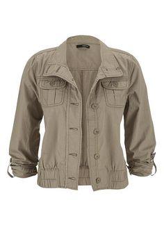 crop jacket with poc
