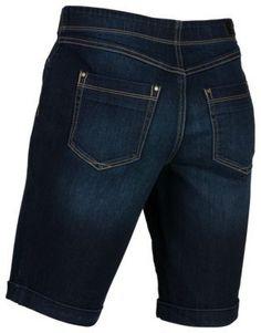 Natural Reflections Stretch Denim Bermuda Shorts for Ladies - Rinse Wash - 14
