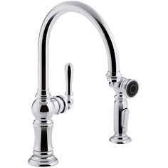 kohler artifacts vibrant polished nickel high arc kitchen faucet at lowes the artifacts faucet collection brings you classic design reimagined in fresh - Kohler Armaturen Kche