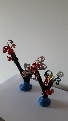 Galo de Barcelos - miniatura - papel reciclado por Elmar. Oficina D´Artes