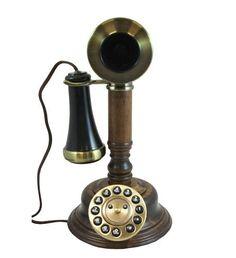 Golden Eagle WOODCANDLESTICK GEE805 Wood Candlestick Phone