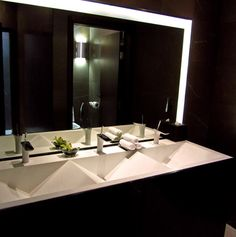 Public Bathroom Sink spa like public restroom  i love the private stalls | amazing