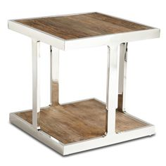 Modern End Tables, Modern Accent Tables + Side Tables Modern End Tables, Coffee And End Tables, End Table Sets, End Tables With Storage, Side Tables, Living Room Furniture, Modern Furniture, Furniture Design, Steel Furniture