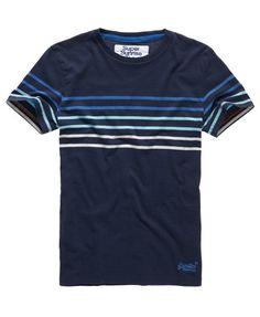 Superdry Bay Stripe T-Shirt Cool Shirts For Men, Going Out Shirts, Boys T Shirts, Polo Shirt Outfits, Gap Outfits, Shirt Logo Design, Shirt Designs, Hang Ten, Summer Shirts
