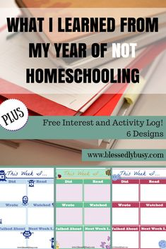 What I Learned From My Year of NOT Homeschooling Plus Free Printable | Blessedly Busy