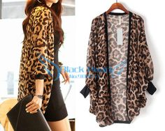 Striped Open-Front Dropped Shoulders Kimono - Her Crochet Leopard Fashion, Animal Print Fashion, Fashion Prints, Love Fashion, Plus Size Fashion, Kimono Fashion, Hijab Fashion, Fashion Dresses, Estilo Fashion